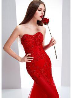 Red Lace Wedding Dress Sweetheart Bridal Gown Mermaid Bridal Dress Vestido de noiva Eevening Dress Party Dress