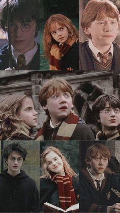 Harry Potter, Ron Weasley y Hermione Granger wallpaper aesthetic Harry Potter Tumblr, Harry Potter Ron Weasley, Harry And Hermione, Harry Potter Tattoos, Ron And Harry, Harry Potter Icons, Harry Potter Pictures, Harry Potter Drawings, Harry Potter Memes