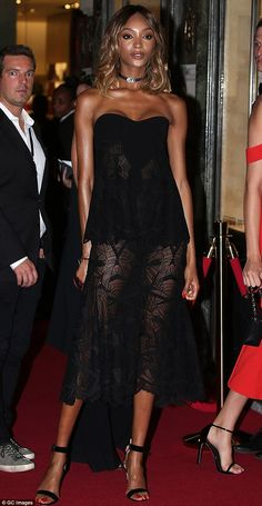 Fierce: Jourdan, who is no stranger to the camera or runway as a top model of the moment, ...