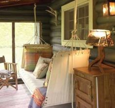 Upscale Hammock for a Sleeping Porch