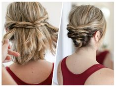 My quick messy updo for short hair. My quick messy updo for short hair. Medium Length Hair Up, Up Dos For Medium Hair, Medium Hair Styles, Curly Hair Styles, Natural Hair Styles, Hairstyles For Medium Length, Hair Medium, Cute Hairstyles Updos, Hairstyles With Bangs