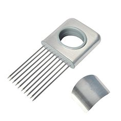 Huixinda Stainless Steel Onion Holder and Finger Hand Protector Slicing Guide Avoid Hurting Prongs Holds Slice Aid Cutting Vegetable Potato Cutter Slicer * You can get additional details at the image link.