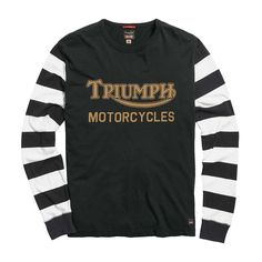 Triumph Ignition Coil Longsleeve T Shirt - Black / New Bone Indian Motorcycles, Triumph Motorcycles, Triumph Motorcycle Clothing, Motorcycle Outfit, Motorcycle Clothes, Mv Agusta, Motocross, Motto, Ducati