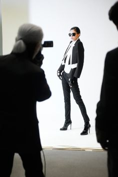 KARL fall winter-2012-13 behind the scenes with Karl Lagerfeld