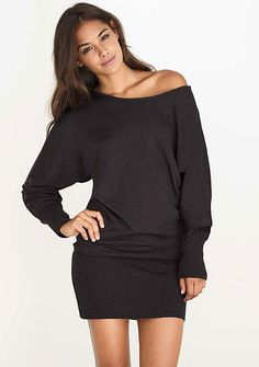 Totally think I could rock this!!!!! Megan Dolman Sweater Dress at Alloy