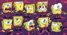 Spongebobs by sniffsniffs on DeviantArt Spongebob Logic, Spongebob Pics, Spongebob Drawings, Spongebob Squarepants, Cartoon Sketches, Art Drawings Sketches, Cartoon Art, Cartoon Characters, Character Design