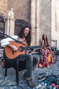 "2017 Estas Tonne and Reka Fodor @ ""Festival Dilema Veche Alba Iulia"" - Romania. Photo by Geri Dagys. #estastonne #concert #guitar #music #gypsy #flamenco #latin #goa #meditation #art #inspiration #atmospheric"