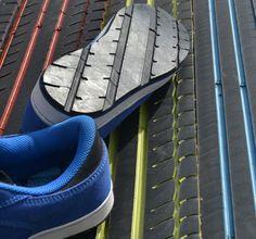 Suelas de zapatos a partir de ruedas recicladas