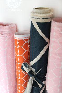 Umbrella Prints: Hearts fabric