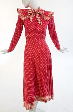Miss Mouse - Red Polka Dot Cotton dress |Manhattan Vintage Clothing Show.  One of a kind and tiny, but fab!