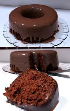 Bolo de chocolate molhadinho mesmo simples, é irresistível e delicioso, fará quem provar querer dois, três pedaços. http://www.receitadodia.com/receita-... - Receita do Dia - Google+