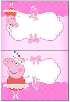 Cartão Agradecimento Peppa Pig Bailarina: