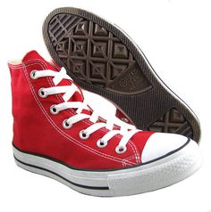 NEW Converse Womens Chuck Taylor M9621 Red All Star Hi Top Shoes US 7