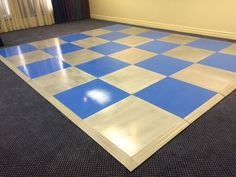 Silver & blue painted dance floor at Cape Town Lodge Hotel on Sat 21 Feb 2015