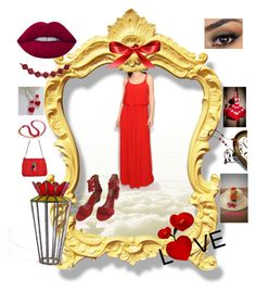 Red love by nanitas23 on Polyvore featuring polyvore мода style GUINEVERE Lime Crime Nintendo fashion clothing