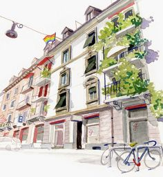 Urban Sketchers Switzerland: Skizzieren im Langstrassen-Quartier
