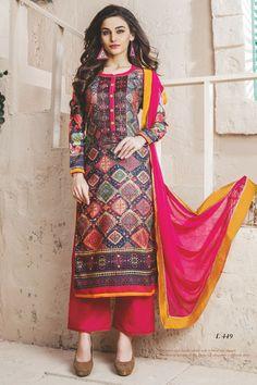 stylish funcional wear pasmina digital print pink dress