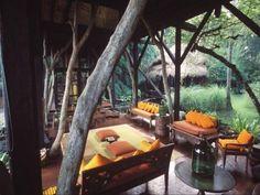 Classic Wooden Decoration On Combination Design House Borneo on Bali