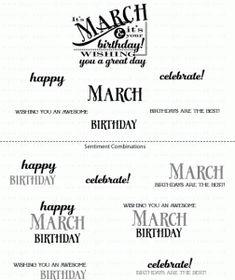 PTI Birthday Classics: March Mini Stamp Set 2790