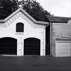 Nice architectural detail on old garages in Georgetown, DC.