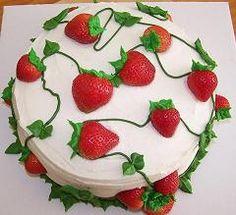 strawberry cake. super cute!