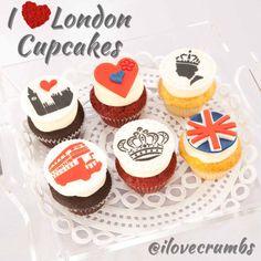 I Love London Cupcakes  www.crumbs.com.kw