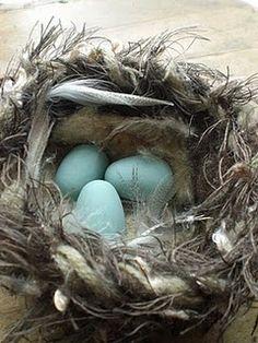 ~ felted nest tutorial