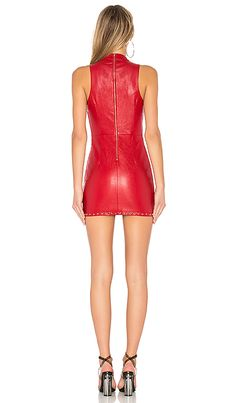 Shop for h:ours Ethel Dress in Crimson at REVOLVE. Free day shipping and returns, 30 day price match guarantee. Red Leather Mini Skirt, Mini Skirt Dress, Girls In Mini Skirts, Latex Dress, Leather Dresses, Revolve Clothing, Leather Fashion, Sexy Dresses, Fashion Outfits