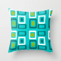 Mod  Turquoise Outdoor Pillow, Mod Outdoor Pillow,Funky Pillow, Modern Outdoor Pillow,Funky Cushion, Fun Outdoor Cushion by crashpaddesigns on Etsy https://www.etsy.com/listing/222315838/mod-turquoise-outdoor-pillow-mod-outdoor