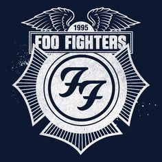 foo fighters typography | Foo Fighters Store \ Navy Winged Crest Zip Hoodie