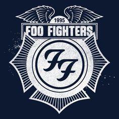 foo fighters typography | Foo Fighters Store \ Navy Winged Crest Zip Hoodie