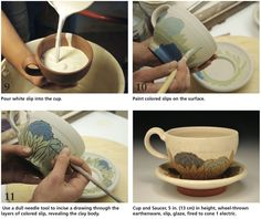 A Renaissance for the Cup and Saucer: A Contemporary Potter Shares the Process for her Wheel Thrown and Slip Decorated Pottery