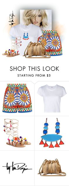 """#1906168"" by gi-gomes ❤ liked on Polyvore featuring Dolce&Gabbana, RE/DONE, Elina Linardaki, Troy Lee Designs and Diane Von Furstenberg"