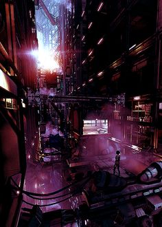 Cyberpunk Atmosphere, Gynoid Assassin