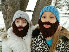 Bearded Crochet Hats