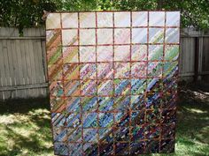 My Watercolor quilt - A Flower Garden Quilting Room, Quilting Ideas, Watercolor Quilt, Striped Quilt, Quilt As You Go, String Quilts, Colorful Quilts, Nature Scenes, Quilt Making