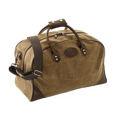 Flight Bag - waxed canvas luggage - soft sided, carry on sized & a great weekender bag. Premium materials & craftsmanship. Made in USA - Guaranteed for Life