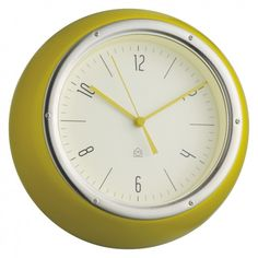 DELIA Yellow metal wall clock | Buy now at Habitat UK