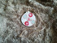 "Glob din lemn ""Stars and snow"" Decoupage, Christmas Ornaments, Stars, Holiday Decor, Home Decor, Decoration Home, Room Decor, Christmas Jewelry, Sterne"
