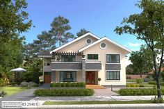 Exclusive 5 Bedroom House Plan with a tasteful facade and has an incredible master bedroom suite fit for a king. Fully detailed architectural drawings available Tree House Plans, House Plans Mansion, Three Bedroom House Plan, Simple House Plans, Duplex House Plans, Beach House Plans, Family House Plans, Luxury House Plans, Modern House Plans