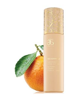 With vitamin C and sustainable orange stem cells. Visit elvireyere.arbonne.com for more info