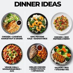 Here are six delicious dinner ideas, comment down below which you will try first! Keto Recipes, Healthy Recipes, Healthy Meals, Salmon And Rice, Air Fryer Healthy, Chicken Stuffed Peppers, Air Fryer Recipes, Grilled Chicken, Food Hacks
