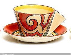 CLIFF Clarice,'Arabesque' teacup and saucer,Bonhams,London