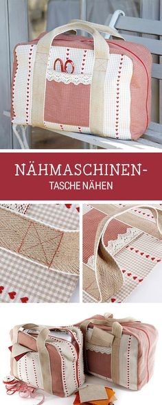 Nähanleitung für eine große Nähmaschinentasche, praktische Anleitung für Zuhause, selbermachen / diy sewing pattern for a sewing machine casem via DaWanda.com