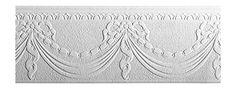 York Wallcoverings Patent Décor Ribbon Swag Paintable Wallpaper Memo Sample, x Anaglypta Wallpaper, Swag, Ribbon, Tapestry, York, Tape, Hanging Tapestry, Treadmills, Tapestries
