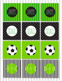 Soccer PRINTABLE Party Cupcake Toppers INSTANT by lovetheday