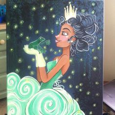 Hey, I found this really awesome Etsy listing at https://www.etsy.com/listing/207134991/disney-art-canvas-acrylic-paint-princess