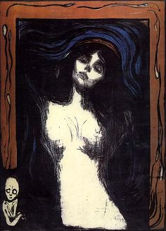 Edvard Munch, Madonna...reminds me of Edward Gorey