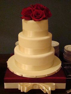 Red+And+Ivory+Wedding+Cakes | photo size: medium 500
