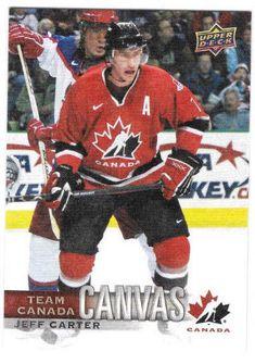 Jeff Carter Canvas Team Canada Canadian Tire Upper Deck TCC-1 2017-18  #TeamCanada